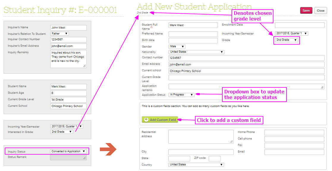 Admissions Module Admin Guide – QuickSchools Support