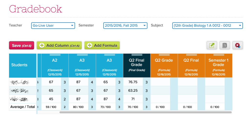 gradebook default system columns